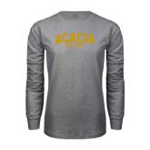 Grey Long Sleeve T Shirt-ACACIA Est. 1904