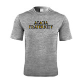 Performance Grey Heather Contender Tee-ACACIA Fraternity Stacked