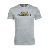 Next Level SoftStyle Heather Grey T Shirt-ACACIA Fraternity Stacked