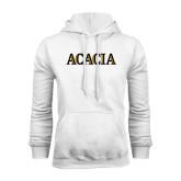 White Fleece Hoodie-ACACIA