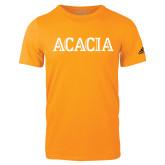 Adidas Gold Logo T Shirt-ACACIA