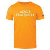 Adidas Gold Logo T Shirt-ACACIA Fraternity Stacked