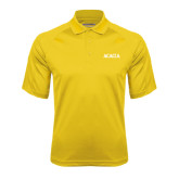 Gold Textured Saddle Shoulder Polo-ACACIA