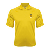 Gold Textured Saddle Shoulder Polo-ACACIA Crest