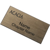 Brushed Gold w/ Black Name Badge-ACACIA Flat Engraved
