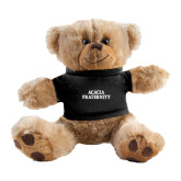 Plush Big Paw 8 1/2 inch Brown Bear w/Black Shirt-ACACIA Fraternity Stacked