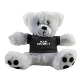 Plush Big Paw 8 1/2 inch White Bear w/Black Shirt-ACACIA Fraternity Stacked