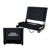 Stadium Chair Black-ACACIA Fraternity Stacked