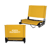 Stadium Chair Gold-ACACIA Fraternity Stacked