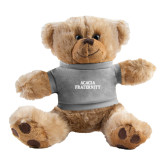 Plush Big Paw 8 1/2 inch Brown Bear w/Grey Shirt-ACACIA Fraternity Stacked