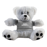 Plush Big Paw 8 1/2 inch White Bear w/Grey Shirt-ACACIA Fraternity Stacked