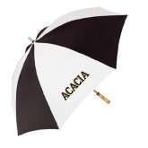 62 Inch Black/White Umbrella-ACACIA