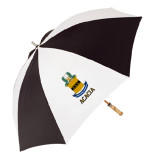 62 Inch Black/White Umbrella-ACACIA Crest
