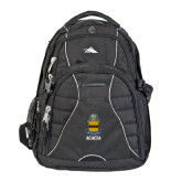 High Sierra Swerve Black Compu Backpack-ACACIA Crest