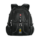 Wenger Swiss Army Mega Black Compu Backpack-ACACIA Crest