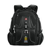 Wenger Swiss Army Mega Black Compu Backpack-ACACIA Crest