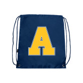 Navy Drawstring Backpack-A
