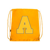 Gold Drawstring Backpack-A