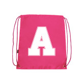 Pink Drawstring Backpack-A