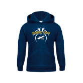 Youth Navy Fleece Hoodie-Basketball in Ball Design