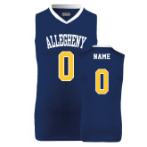 Replica Navy Adult Basketball Jersey-Personalized