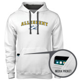 Contemporary Sofspun White Hoodie-Arched Allegheny with Gator Head