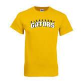 Gold T Shirt-Arched Allegheny Gators