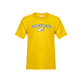 Youth Gold T Shirt-Arched Allegheny with Gator Head