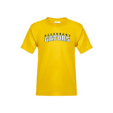 Youth Gold T Shirt-Arched Allegheny Gators