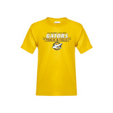 Youth Gold T Shirt-Gators Track & Field w/ Banner