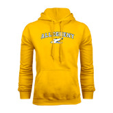 Gold Fleece Hoodie-Arched Allegheny with Gator Head