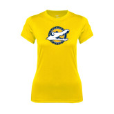 Ladies Syntrel Performance Gold Tee-Official Logo
