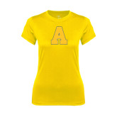 Ladies Syntrel Performance Gold Tee-A