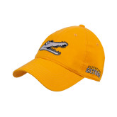 Gold Twill Unstructured Low Profile Hat-Gator Head