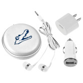 3 in 1 White Audio Travel Kit-Gator Head