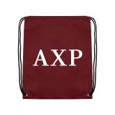 Maroon Drawstring Backpack-AXP