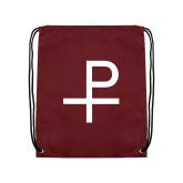 Maroon Drawstring Backpack-Labarum