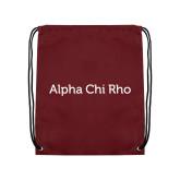 Maroon Drawstring Backpack-Alpha Chi Rho