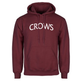 Maroon Fleece Hoodie-Crows Arched