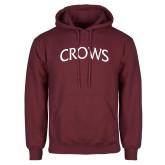 Maroon Fleece Hoodie-Crows Arched