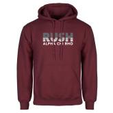 Maroon Fleece Hoodie-Rush Lines Alpha Chi Rho