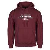 Maroon Fleece Hoodie-Pledge The Best