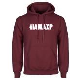 Maroon Fleece Hoodie-#IAMAXP