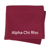Maroon Sweatshirt Blanket-Alpha Chi Rho