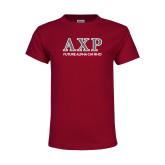 Youth Maroon T Shirt-Future Alpha Chi
