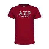 Youth Maroon T Shirt-Legacy