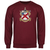 Maroon Fleece Crew-Crest