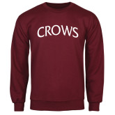 Maroon Fleece Crew-Crows Arched