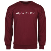 Maroon Fleece Crew-Alpha Chi Rho