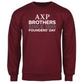 Maroon Fleece Crew-Founders Day/Brothers